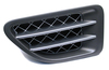 Genuine Side Intake Grille, Left Hand, Supercharged Style, Tungsten Titanium, For Range Rover Sport 2006 - 2009