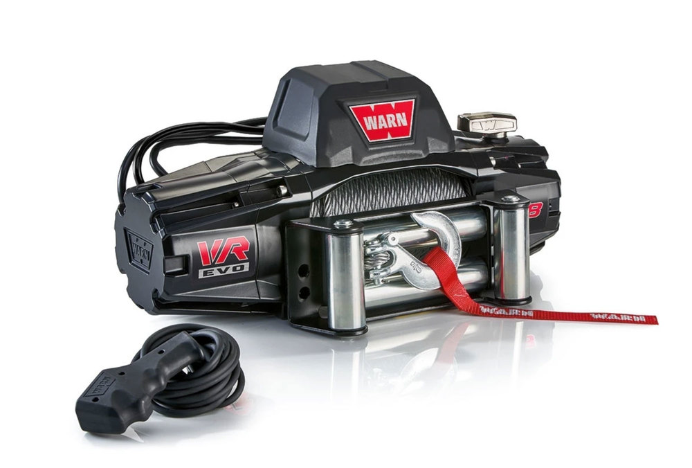 WARN VR EVO 8 Recovery Winch 103250, 8,000-Pound Capacity With Steel Rope, 2-In-1 Remote With Wireless And Wired Options