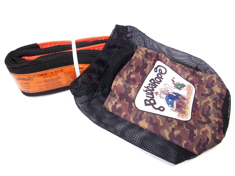 recovery strap in Bubba Rope carrying bag