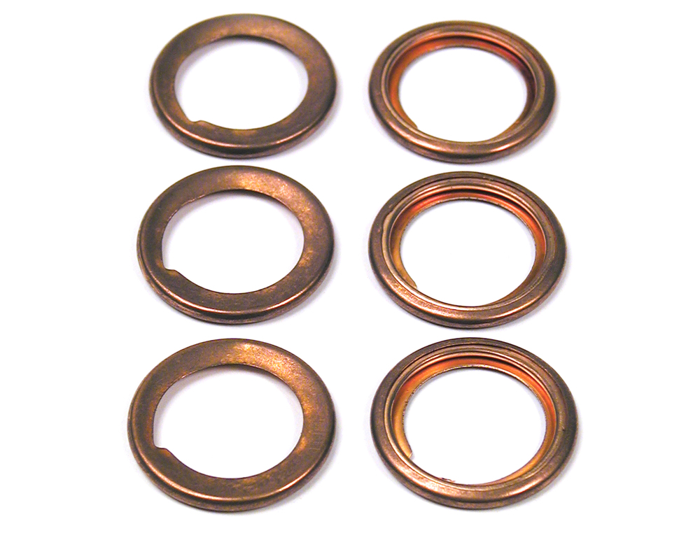 Oil Pan Drain Plug Washer 213961L, Set Of 6, For Land Rover Defender 90 And 110, And Range Rover Classic (See Fitment Years)