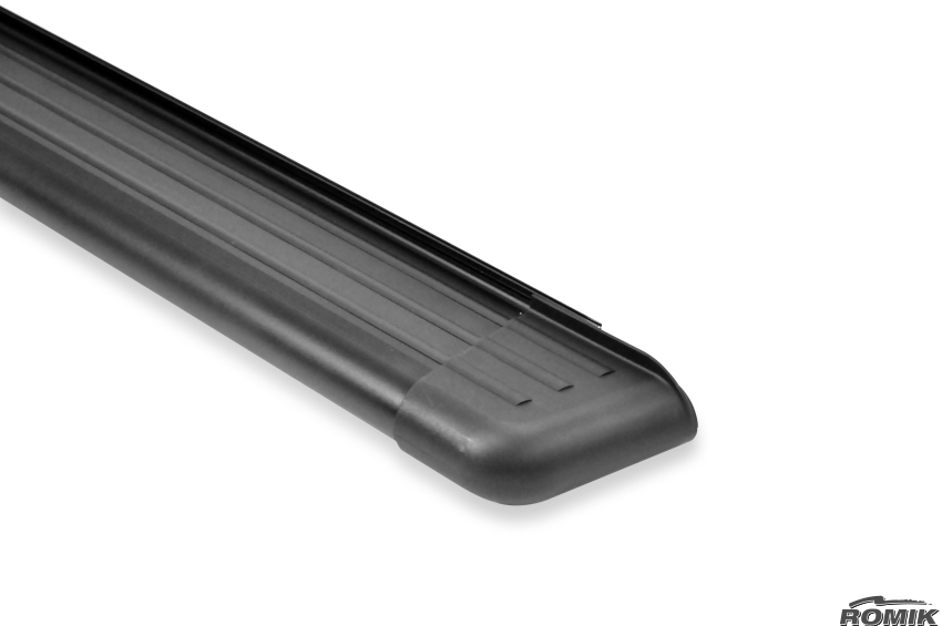 Side Steps / Running Boards For LR4, Black Pair, RB2 Series By Romik