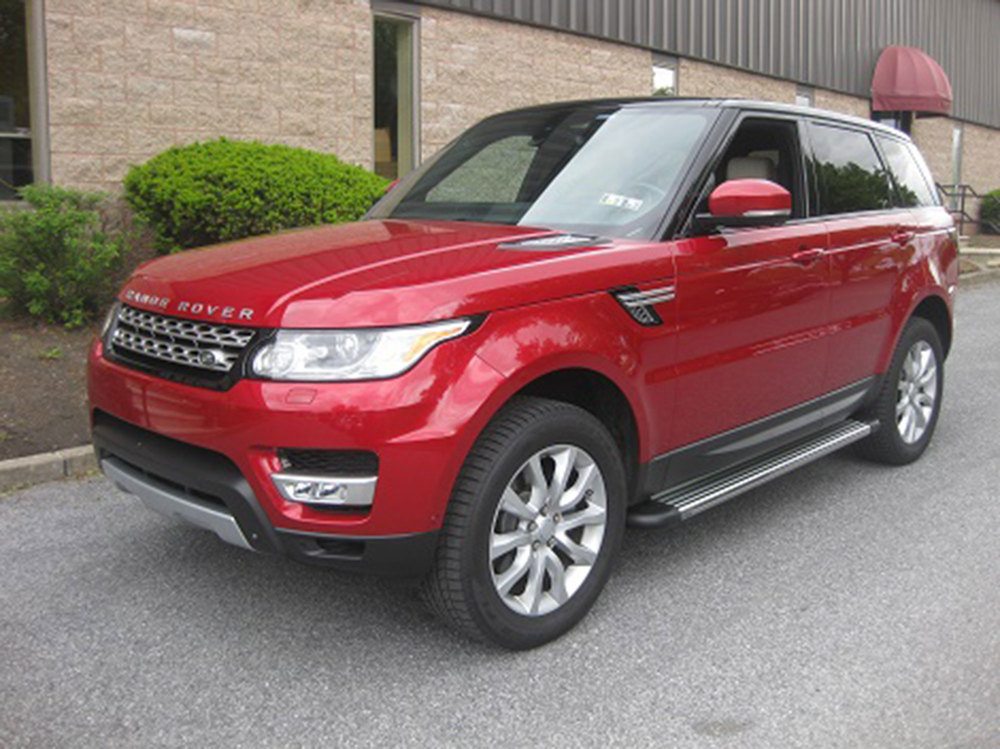 Side Steps / Running Boards For Range Rover Sport, Stainless Steel Pair, RB2 Series By Romik