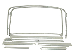 Hoop Set For Canvas Hood Soft Top On Land Rover Series 2, 2A, And 3, 88-Inch Short Wheelbase SWB Models