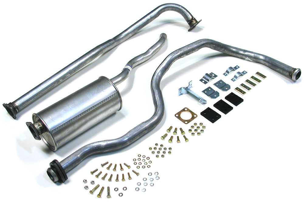 Exhaust System For Land Rover Series 2, 2A And 3, 2.25 88-Inch Standard, Right Hand Exit