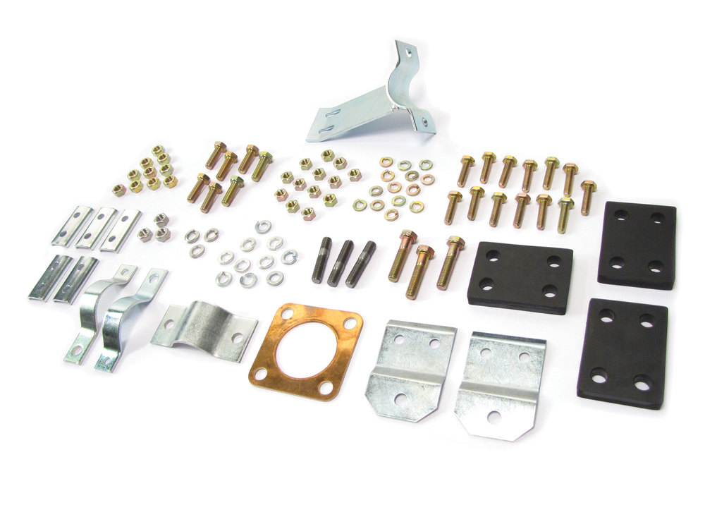 Exhaust Hanging Kit With Bolts, Brackets And Clamps, For Land Rover Series 2, 2A And 3, 88-Inch Models