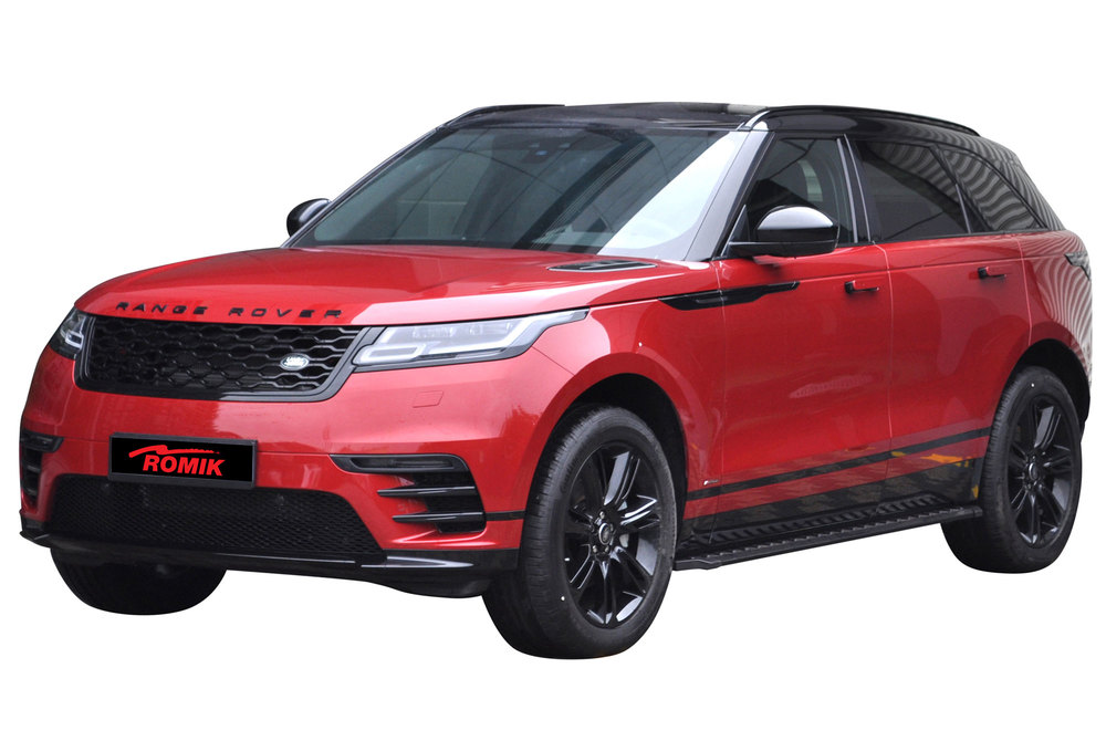 Side Steps / Running Boards For Range Rover Velar, Stainless Steel Pair, RZR Series By Romik