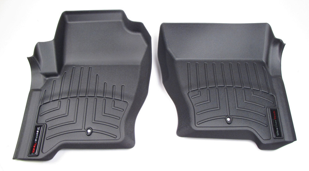 Floorliner Molded Mats By WeatherTech, Front Pair, Black, For Land Rover LR3, LR4 And Range Rover Sport