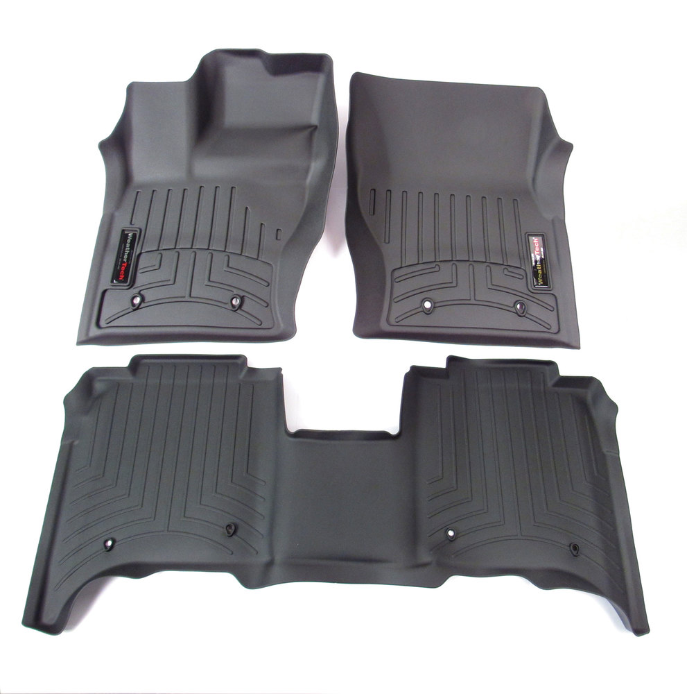 Floor Liners Front And Rear -Black