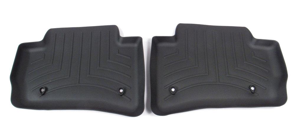 Floorliner Molded Mat By WeatherTech, 2nd Row, Black For Range Rover Velar