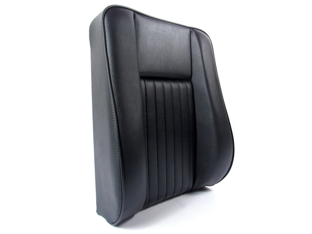 Deluxe Center Front Seat Back And Cushion, Black Vinyl With Foam Padding, For Land Rover Series II, IIA And III