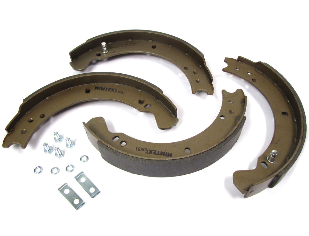 Brake Shoes, Axle Set For 88-Inch Land Rover Series 2, 2A And 3