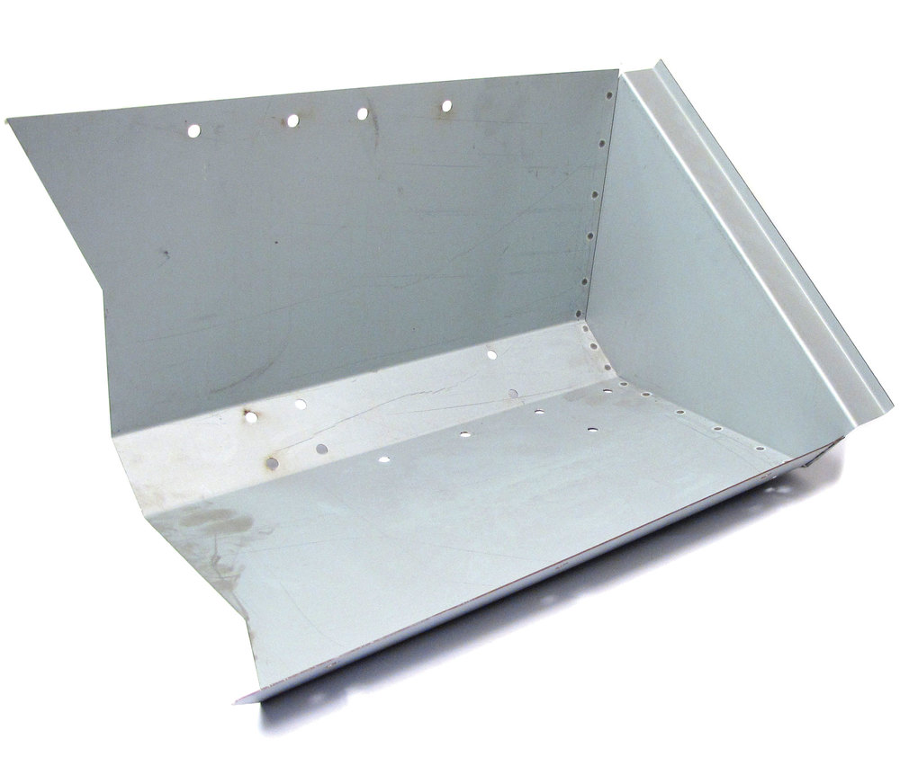 Footwell DA4018N, Right Side, For Land Rover Series 2, 2A, And 3, 88 And 109-Inch Models, Left Hand Drive Models