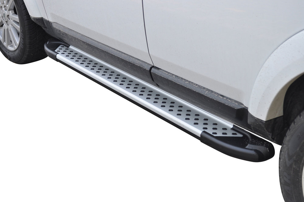 Side Steps / Running Boards For LR4, Silver Pair, RAL Series By Romik