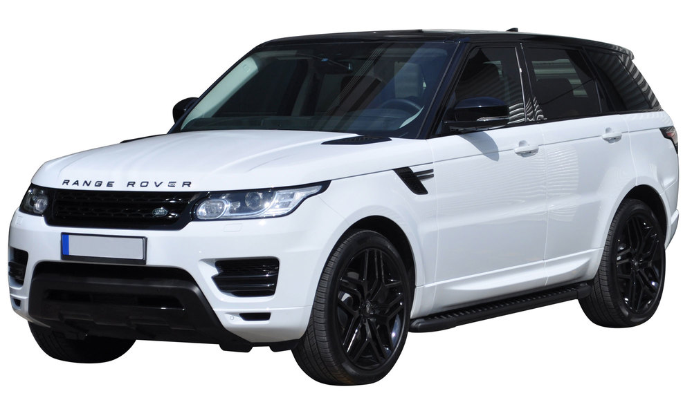 Side Steps / Running Boards For Range Rover Sport, Black Pair, RAL Series By Romik