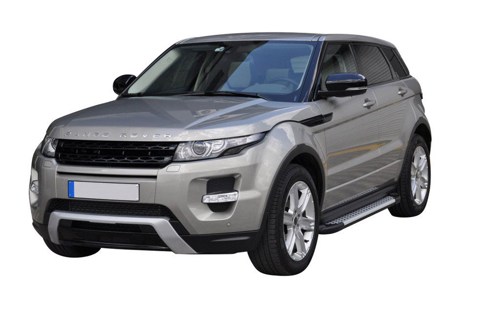 Side Steps / Running Boards For Range Rover Evoque, Silver Pair, RAL Series By Romik