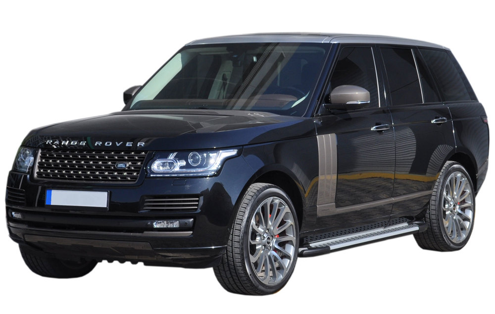 Side Steps / Running Boards For Range Rover Full Size, Silver Pair, RAL Series By Romik