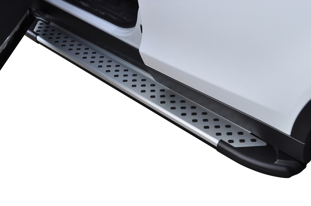 Side Steps / Running Boards For Land Rover Discovery Sport, Silver Pair, RAL Series By Romik