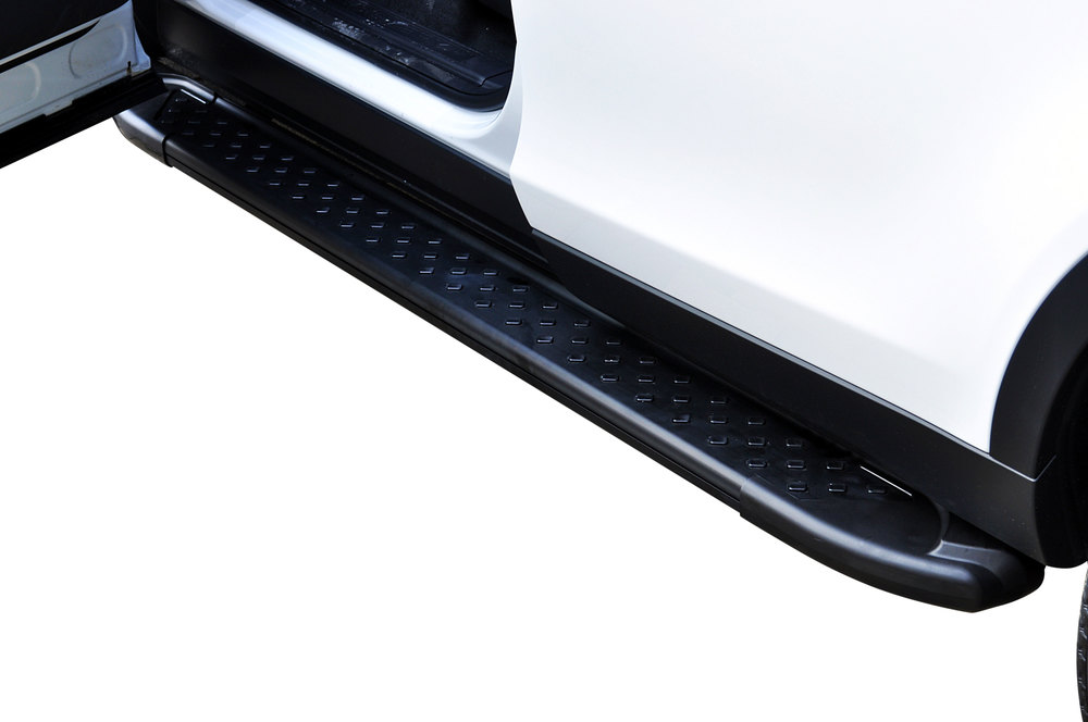 Side Steps / Running Boards For Land Rover Discovery Sport, Black Pair, RAL Series By Romik