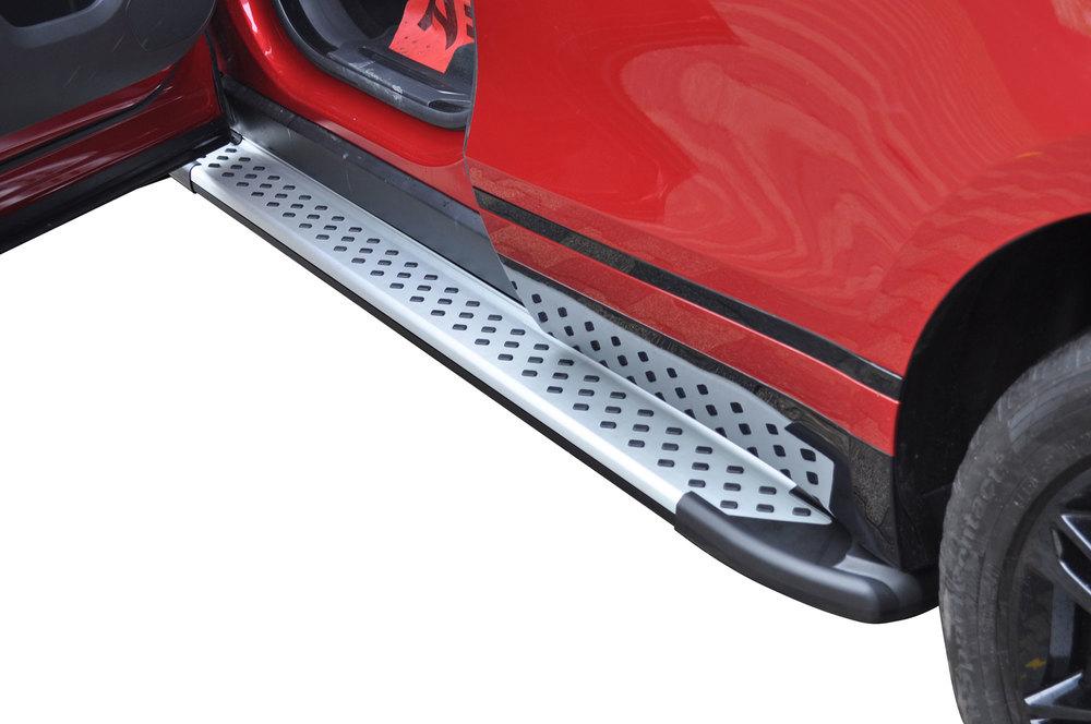 Side Steps / Running Boards For Range Rover Velar, Silver Pair, RAL Series By Romik