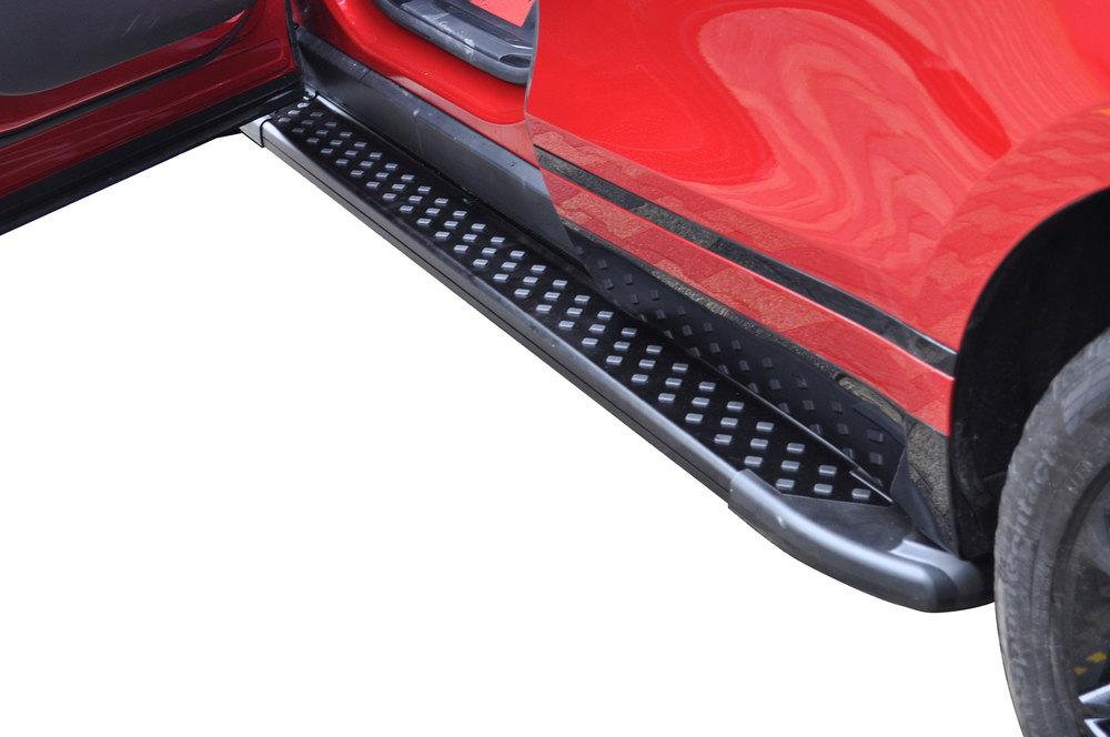 Side Steps / Running Boards For Range Rover Velar, Black Pair, RAL Series By Romik