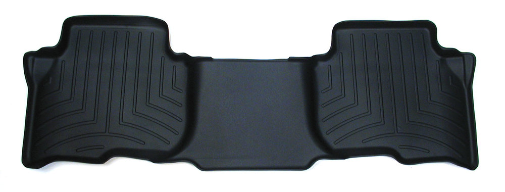 Floorliner Molded Mat By WeatherTech, Black, 2nd Row Rear Seat, For Land Rover LR3, LR4 And Range Rover Sport (See Fitment Years)