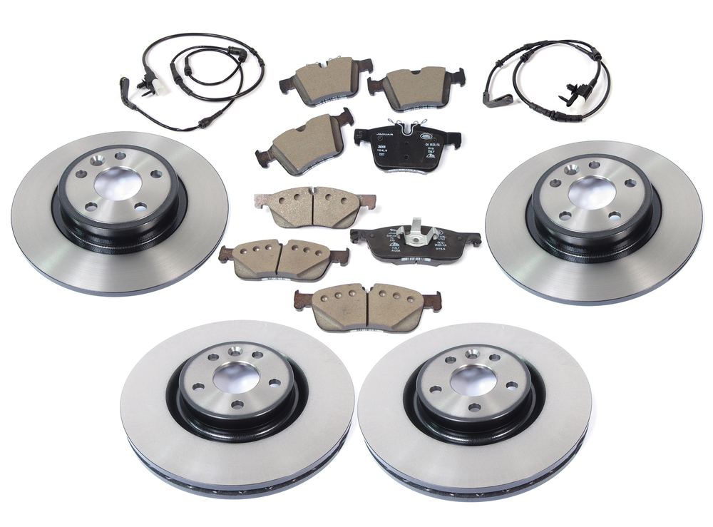 Brake Rebuild Kit, Front And Rear, For Land Rover Discovery Sport, Includes Genuine Pads And Rotors, And Replacement Wear Sensors