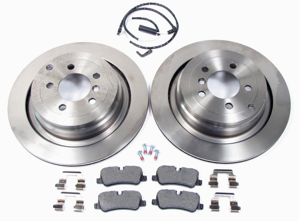 brake rotors, Textar pads, brake wear sensors, hardware