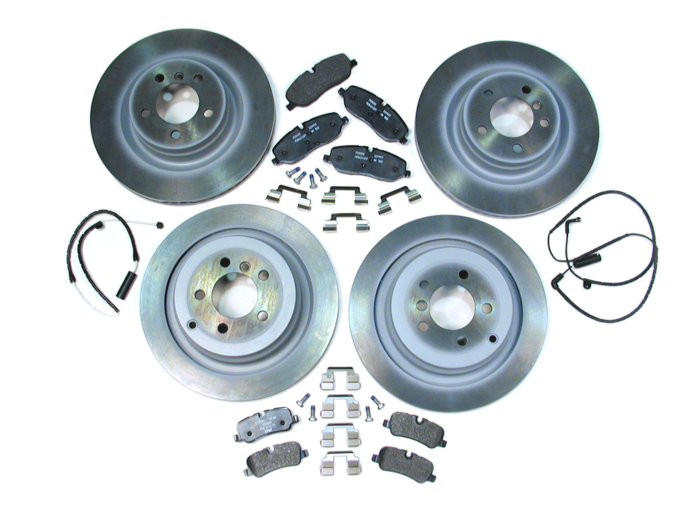 Genuine Brake Rebuilding Kit, Front And Rear, Includes Genuine Pads, Rotors And Brake Wear Sensors, For Range Rover Full Size L322 2006 - 2009