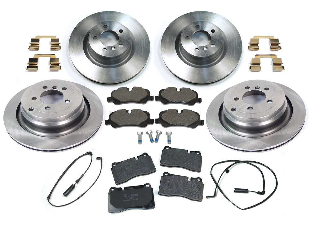 Brake Rebuilding Kit, Front And Rear, For Range Rover Full Size Supercharged L322 2006 - 2009, Includes Standard Rotors, Genuine Pads, And Sensors