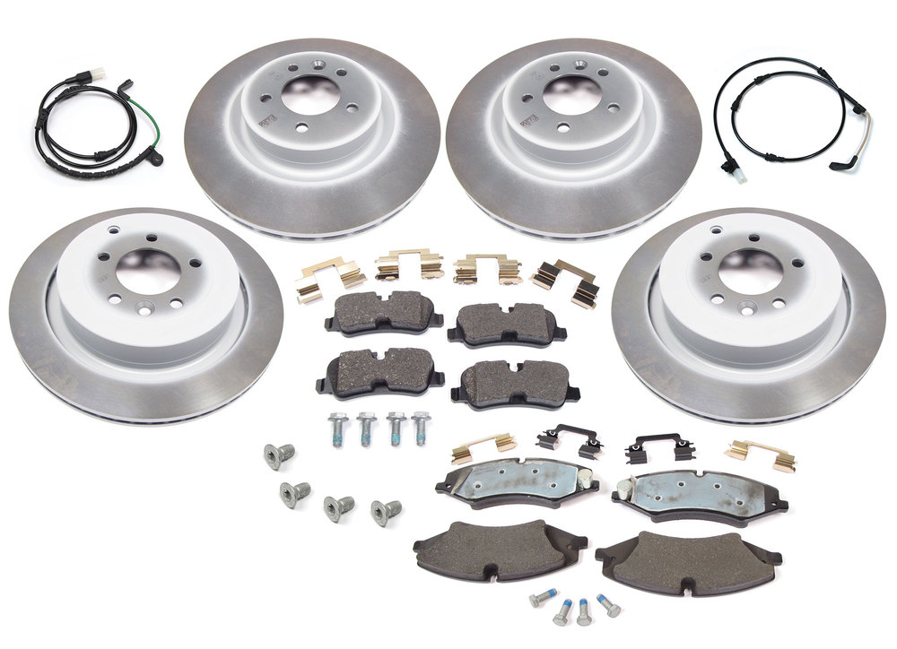 brake kit - rotors, pads, sensors