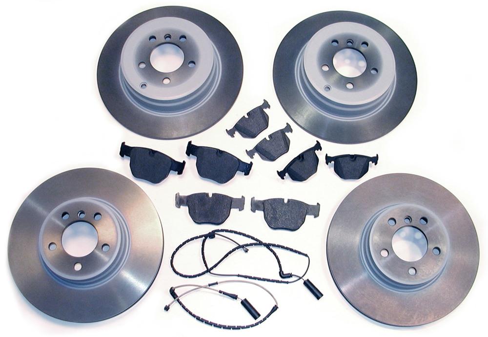 brake pads, rotors, sensors