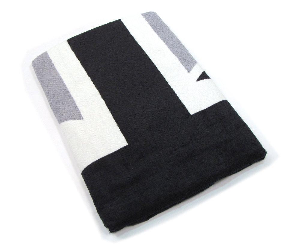 Seat Armor Seat Towel - Terry Cloth Union Jack - Black, White & Grey - Single Cover