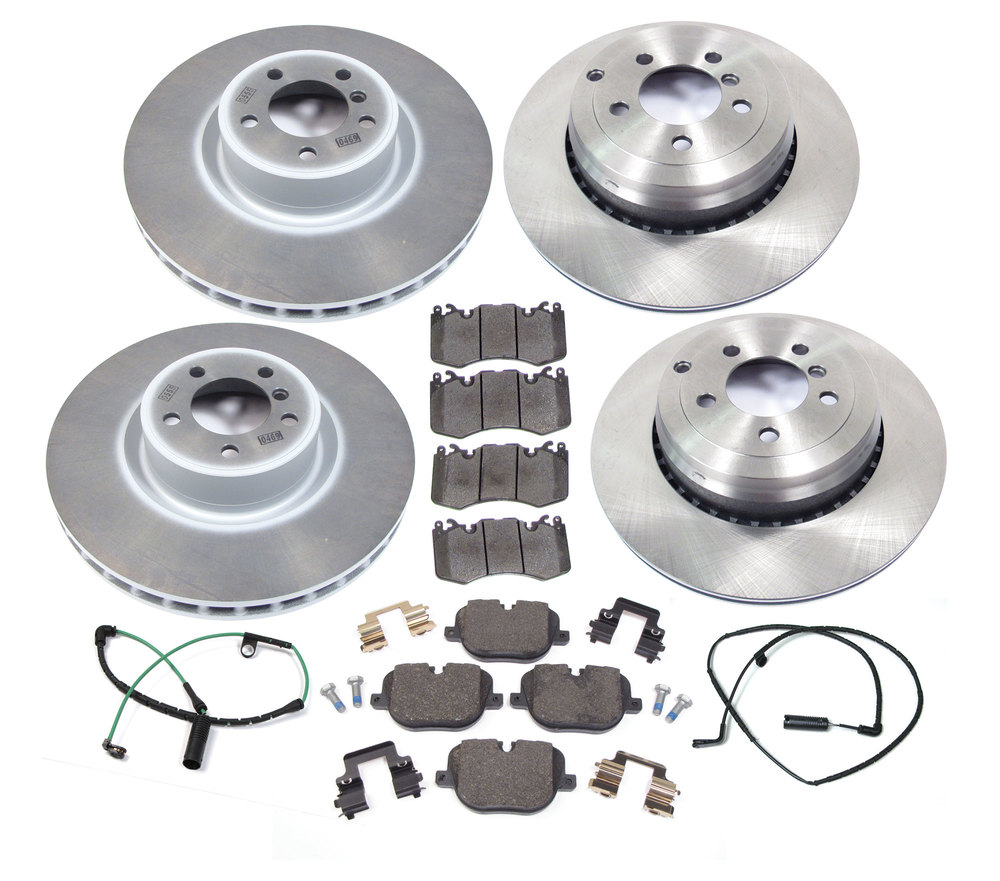 Brake Rebuild Kit, Front And Rear, With Genuine Brake Pads, Standard Rotors And Replacement Wear Sensors, For Range Rover Full Size Supercharged