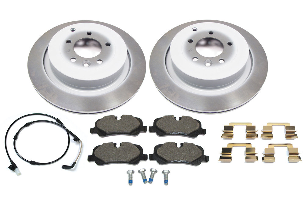 Brake Rebuild Kit, Rear, With Genuine Pads And Rotors For Range Rover Sport From Vin # AA256676 - On