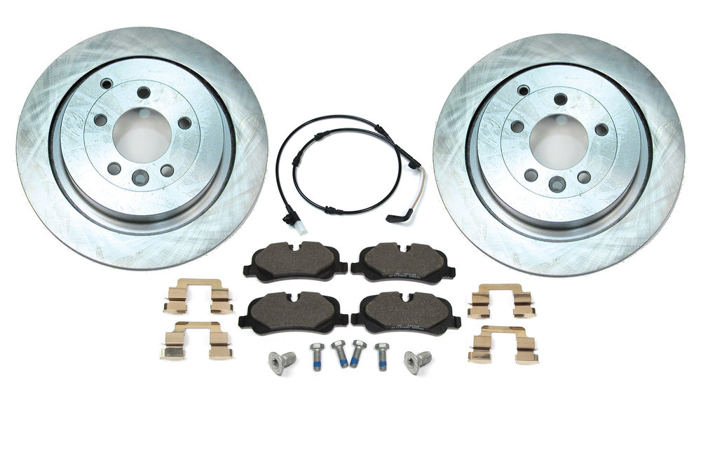 Rear Brake Rebuild Kit, Includes Genuine Pads, Standard Rotors And Hardware, For Land Rover LR3 (V8 Only)