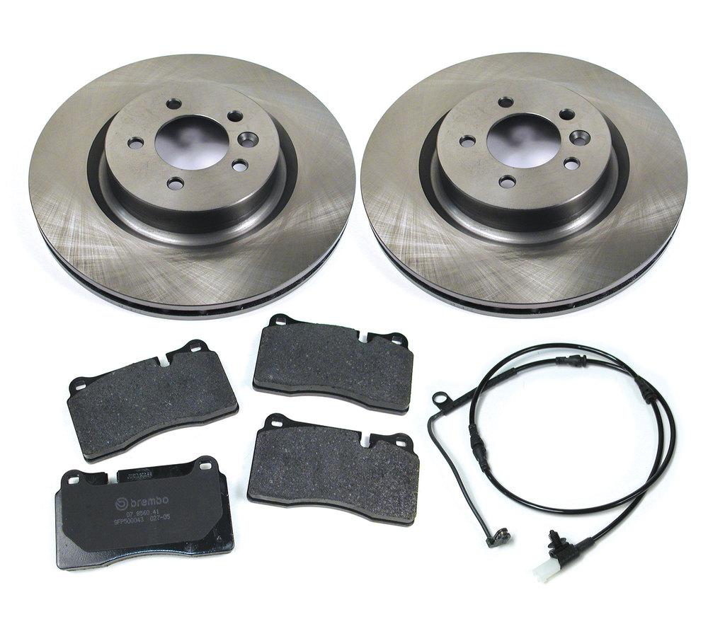 brake rotors, pads and wear sensors