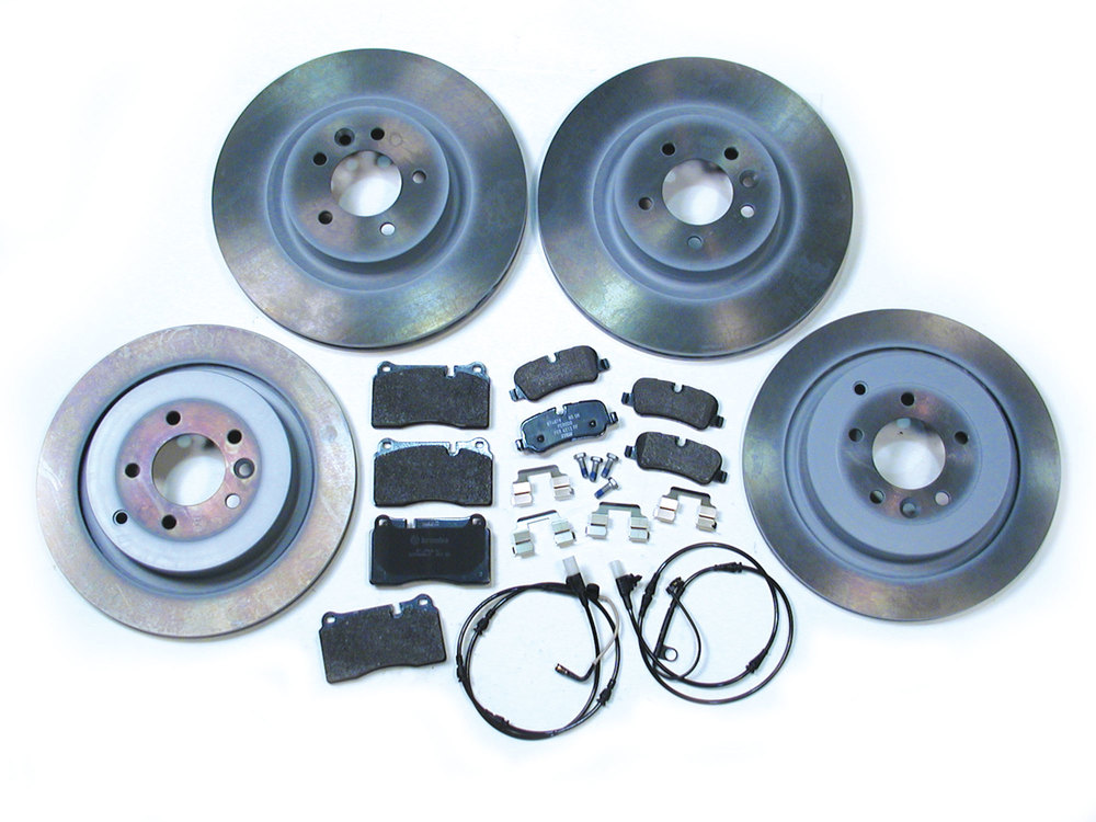 Genuine Brake Rebuild Kit Front And Rear, Includes Genuine Pads, Genuine Rotors, Wear Sensors And Retainers, For Range Rover Sport Supercharged