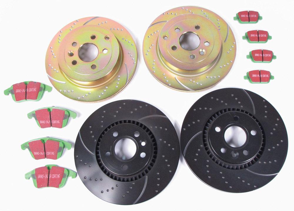 brake rotors and EBC brake pads