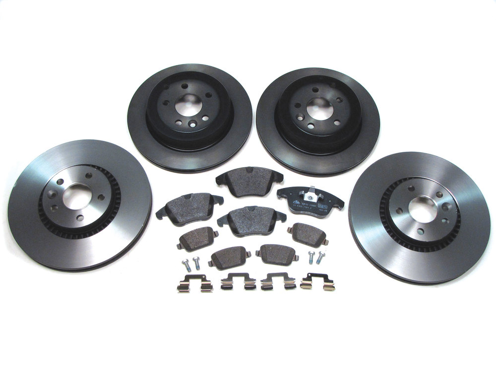 brake rebuild kit - pads, rotors and hardware
