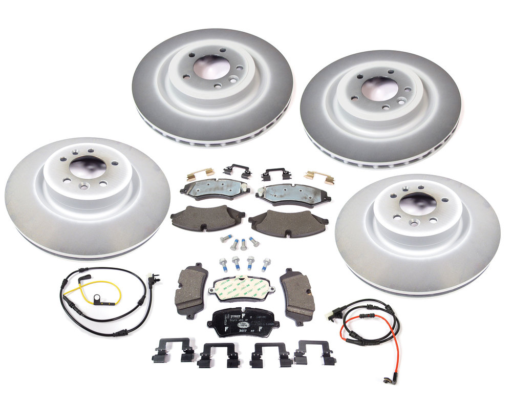 Brake Rebuild Kit, Front And Rear, For Range Rover Full Size L405, Includes Genuine Pads, Genuine Rotors And Wear Sensors