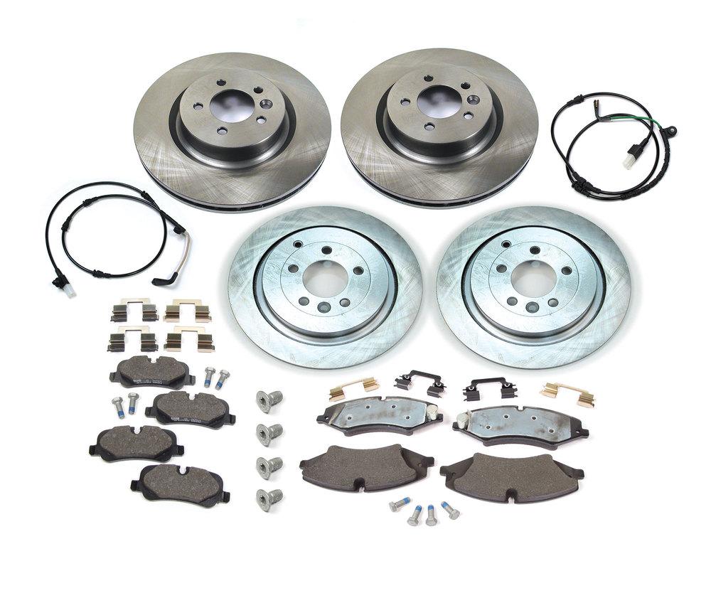 For 2006-2016 Land Rover Range Rover Sport,LR4 Front Rear Black D//S Brake Rotors Kit