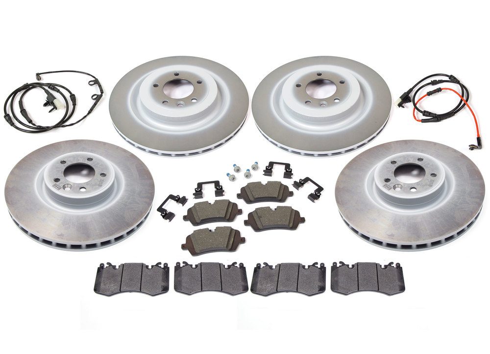genuine brake parts - pads, rotors and wear sensors