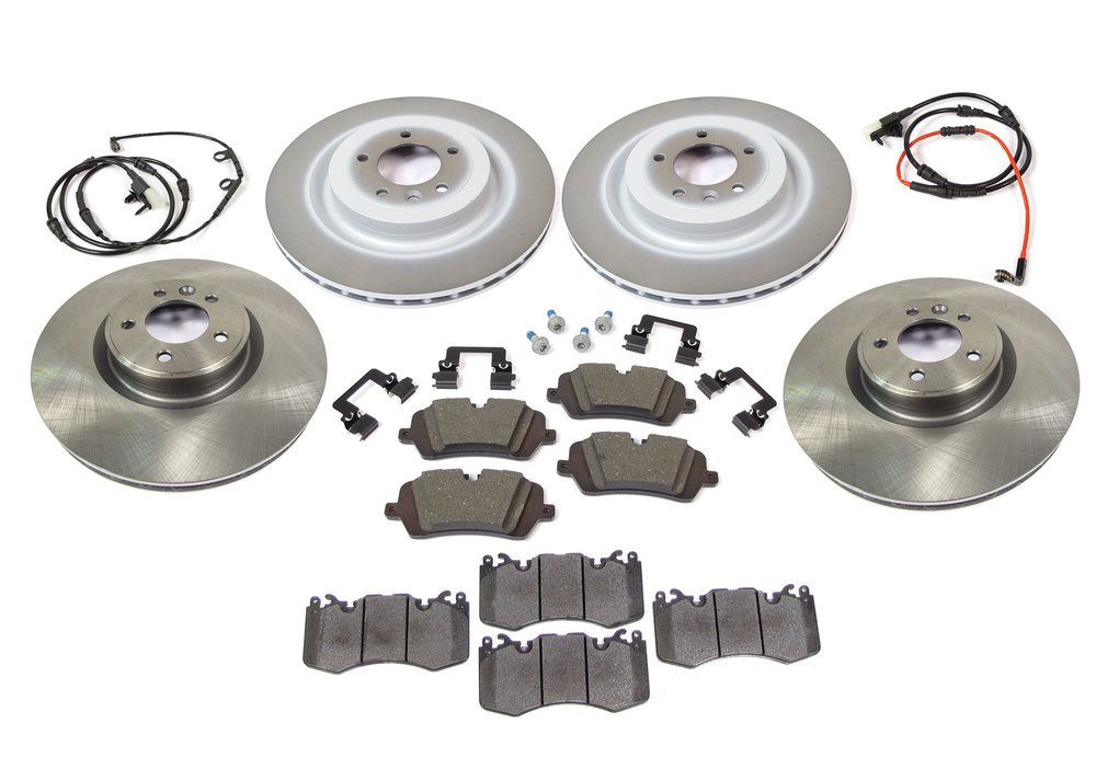 Brake Rebuild Kit, Front And Rear, Includes Genuine Pads, Standard Rotors, Brake Wear Sensors, And Pins And Clips, For Range Rover Sport And Range Rover Full Size L405 (See Fitment Years)