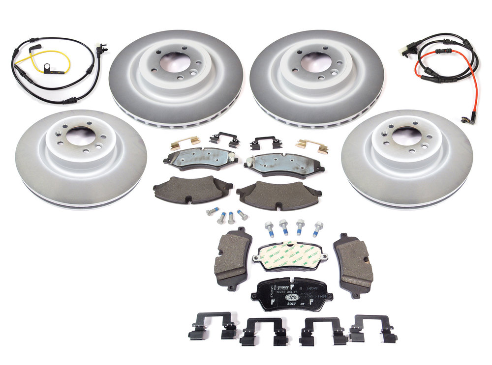 Genuine Brake Rebuild Kit, Front And Rear With Genuine Rotors And Pads, For Range Rover Sport And Full Size V6 3.0L Supercharged (Petrol And Tdi), And Land Rover Discovery 5 (Petrol), See Fitment Notes
