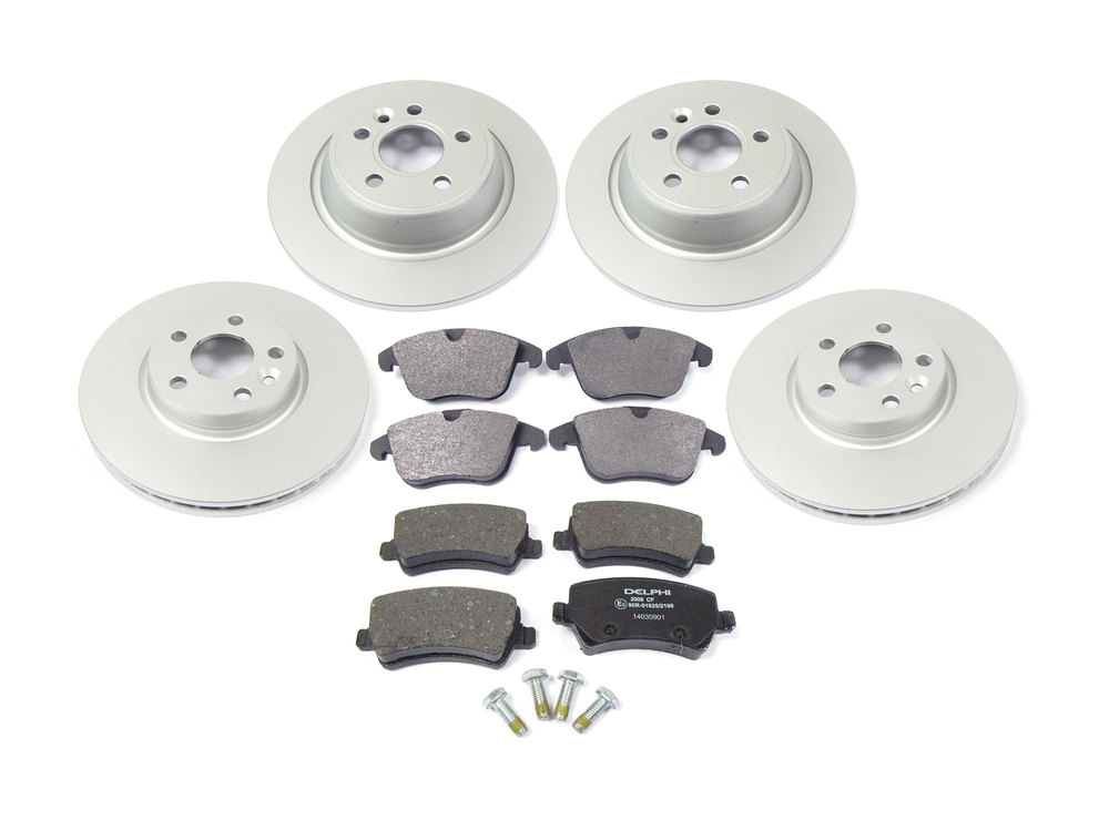 Brake Rebuild Kit, Front And Rear, Includes Standard Rotors And Brake Pads, For Range Rover Evoque