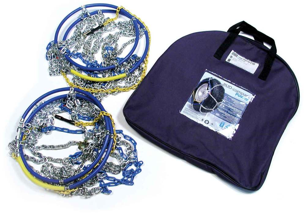 Grip 4X4 Snow Chains By RUD, Pair, For Range Rover Full Size L322, 2003 -2009