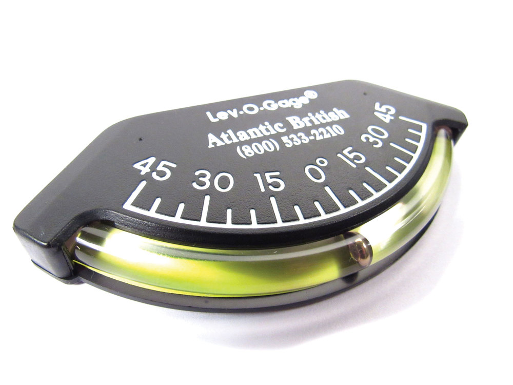 Lev-O-Gage, 3.5-Inch Wide Off Road Vehicle Tilt Angle Inclinometer Dashboard Gauge, With Atlantic British Engraved Logo