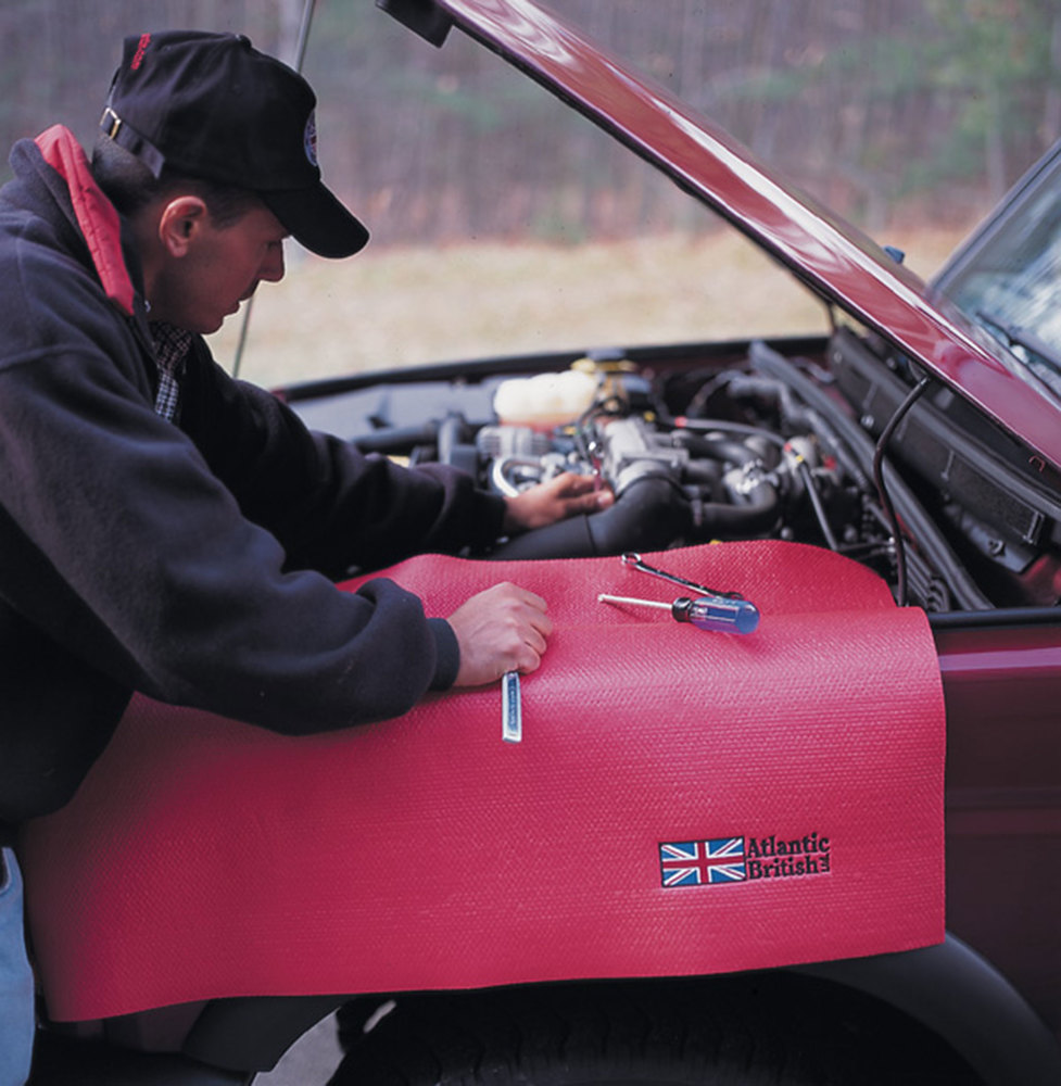 Fender Cover Tool Protection Pad, 24 X 36 Inch, Red With Embroidered Atlantic British Logo