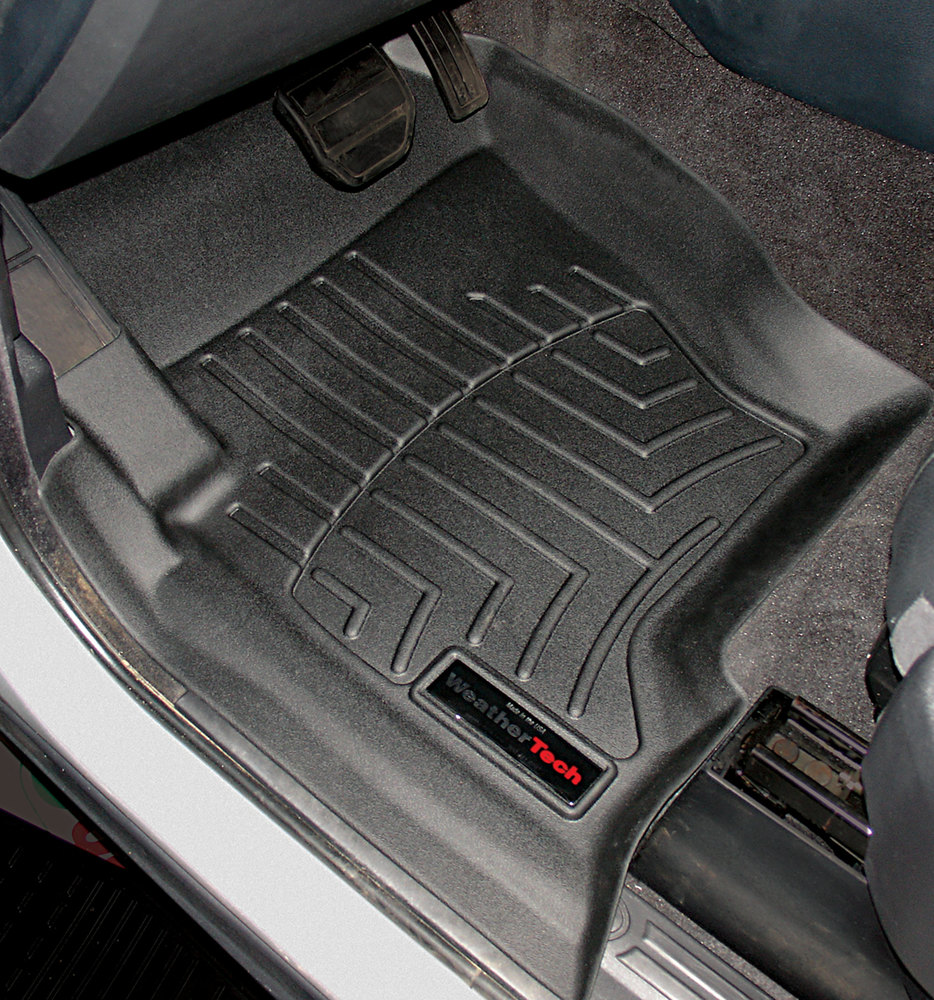 Floorliner Molded Mats By WeatherTech, Front Pair, Black, For Land Rover LR3 And Range Rover Sport 2005 - 2008