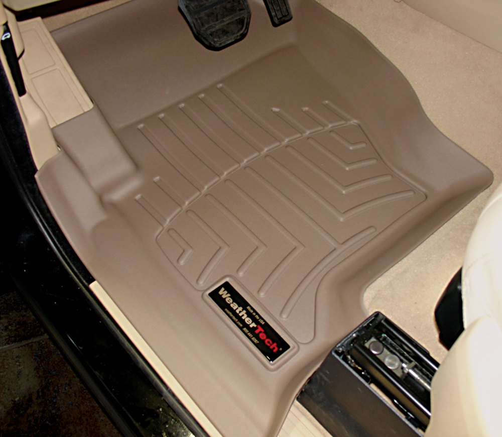 Floorliner Molded Mats By WeatherTech, Front Pair, Tan, For Land Rover LR3 And Range Rover Sport 2005 - 2008